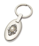 Jodie Rose Crystal and Pearl Oval Keyring, Clear
