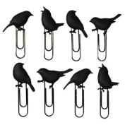 Zoo Bird Clips, Pack of 8, Black