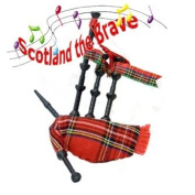 "Musical Bagpipe Fridge magnet - Plays ""Scotland The Brave"""