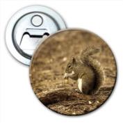 Squirrel Acorn Bottle Opener Fridge Magnet
