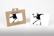 Banksy Flower Thrower Photo Fridge Magnet