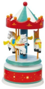Musicbox World 16005 170 mm Carousel Playing Magic Flute , Red/White