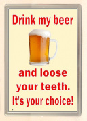 Drink My Beer and Lose Your teeth... Large Fridge Magnet great gift for student