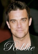Robbie Williams steel fridge magnet