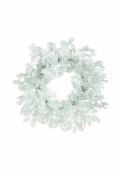 Festive 45 cm Glittering Holly/ Wicker Wreath