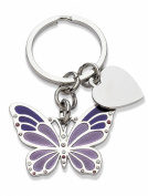 Jodie Rose Amethyst Crystal and Enamel Butterfly Keyring