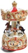 Musicbox World 14196 Small Carousel Angel Playing Isle of Capri