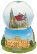 Musicbox World 17508 Vienna's Cathedral Snow Globe Playing Blue Danube