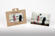 Banksy Cop Searching Girl Photo Fridge Magnet 6x9cm