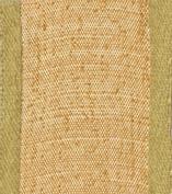 Caspari Entertaining with Caspari Holiday 1-1/ 5.1cm Width Raw Silk Wired Ribbon, Gold