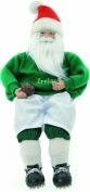 Festive Sitting Irish Rugby Santa
