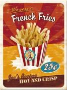French Fries steel fridge magnet
