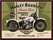 Harley Davidson Knucklehead steel fridge magnet