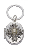 Jodie Rose Clear Crystal and Pearl Mirror and Picture Frame Keyring