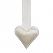 Landon Tyler 5 x 25 x 25 cm Decorative Beaded Hanging Heart, White