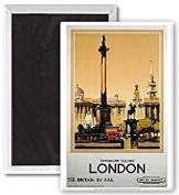 London Trafalgar Sq. (old rail ad.) fridge magnet