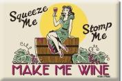 Make Me Wine funny steel fridge magnet