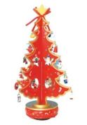 Musicbox World 16117 380mm Christmas Tree Playing O Christmas Tree, Red