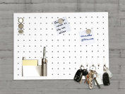 Master of Boards® Stainless Steel Magnetic Memo Board - Singapore - 35x50cm - white
