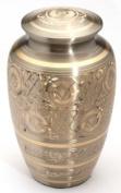 Urns UK 25cm Brass Cremation Urn Adult Gloucester, Pewter