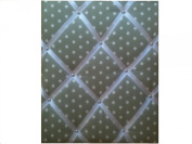 "Notice Boards, Memo Boards, Ribbon Boards Size Large 40x48cm ""Sage Green, Cream Spots""Wall Decor"