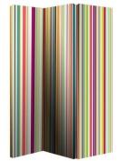 Arthouse Room Divider Screen 3 Panels 2 Fold Bright Stripe 150cm x 120cm x 2.5cm