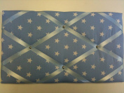"Pinboards, Notice Boards, Memo Boards, ""Baby Blue White Stars"""
