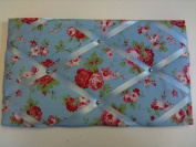 "Pinboards, Notice Boards, Memo Boards, ""Cath Kidston Fabric Rosali in Blue"""
