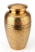 Urns UK 25cm Brass Cremation Urn Adult Banbury, Brass
