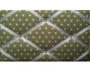 "Pinboards, Notice Boards, Memo Boards, ""Sage Green White Spots"""
