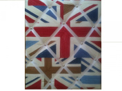 "Notice Boards, Memo Boards, Ribbon Boards Size Large 40x48cm ""Union Jacks"" Wall Decor"