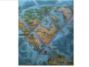 "Notice Boards, Memo Boards, Ribbon Boards Size Large 40x48cm ""World Map"" Wall Decor Part of map may vary from board to board"