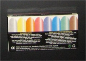 Pack of 8 mixed colours chunky chalk