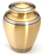 Urns UK 25cm Brass Cremation Urn Adult Durham, Brass