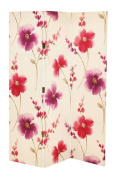 Arthouse Room Divider Screen 3 Panels 2 Fold Riveria Pink Screen 150cm x 120cm 008206