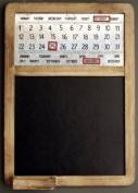 Distressed Wood Magnetic Calendar And Blackboard