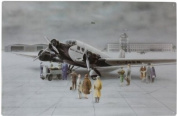"Magnetic Memo Board ""Aeroplane Junkers JU130cm incl. 8 magnets aeroplanes"