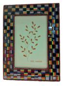 Mg Décor 10.16 x 15.24 cm Rainbow Weaved Design Photo Frame