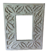 Mg Décor Carved And Distress Look Photo Frame