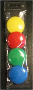 Set of 40mm diameter primary coloured magnets