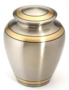 Urns UK 25cm Brass Cremation Urn Adult Durham, Pewter