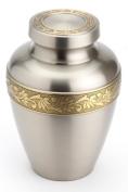 Urns UK 25cm Brass Cremation Urn Oxford, Pewter