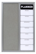 Zeller 11524 Weekly Planner / 40 x 60 Aluminium Grey