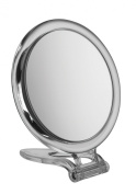 Circle Perspex Travel Mirror x 10 magnification - 15cm diameter mirror perfect for travelling