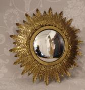 Modern Vintage Design Gold Sunburst Mirror