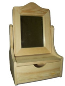 New Plain Large Wooden Jewellery/Cosmetics Vanity with Mirror - Wooden dressing Table
