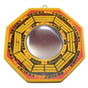 Yellow Convex Bagua Mirror
