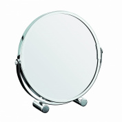 Axxentia Bad 282800 Standing Magnifying Mirror Chromed Round 17 cm Triple Magnification