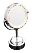 Axxentia Bad 282805 Lighted Magnifying Mirror Chromed-Plated 15 cm Diamater 3x Magnification