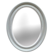 Vintage Oval Cameo Duck Egg Blue Mirror 54cm